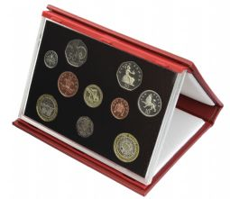 2004 Proof set red Leather deluxe for sale